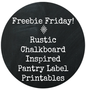 Freebie Friday! | Rustic Chalkboard Inspired Pantry Label Printables | NewMamaDiaries.com