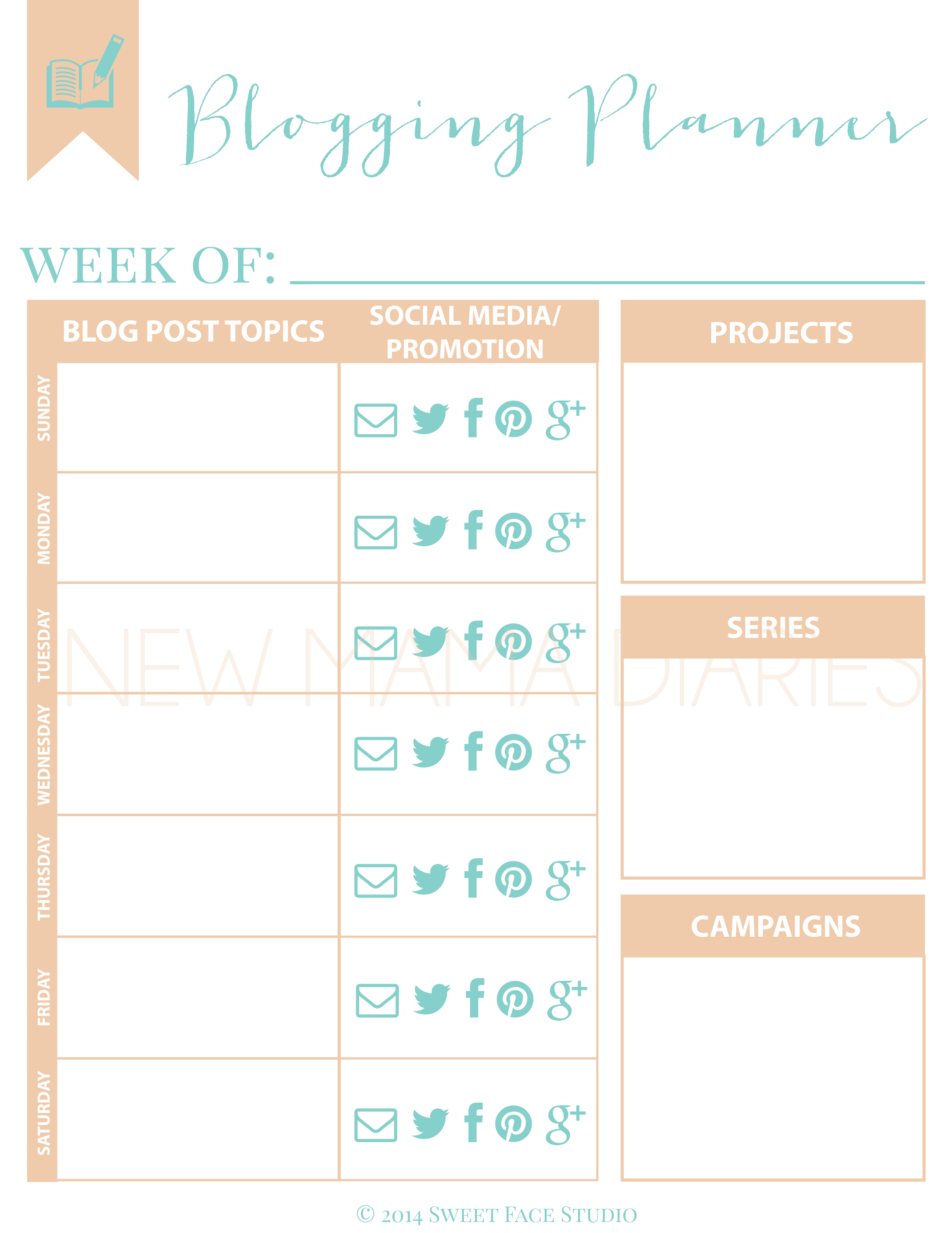 Why Its Important to Utilize A Blogging Planner   NewMamaDiaries.com