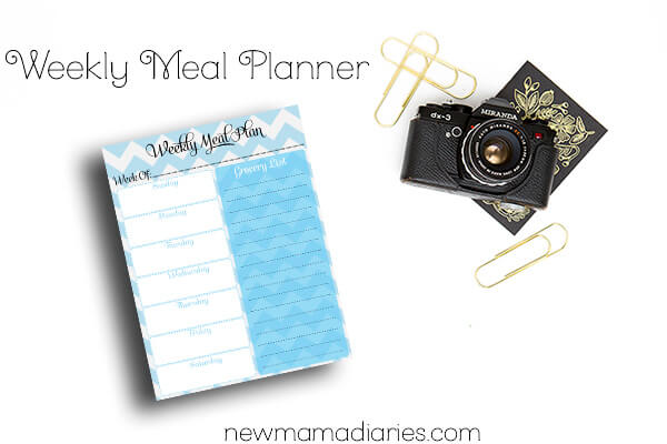 Weekly Meal Planner | NewMamaDiaries.com #organization #mealplanning #planning