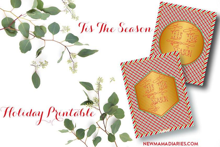 Freebie Friday   Tis The Season Holiday Printable   NewMamaDiaries.com