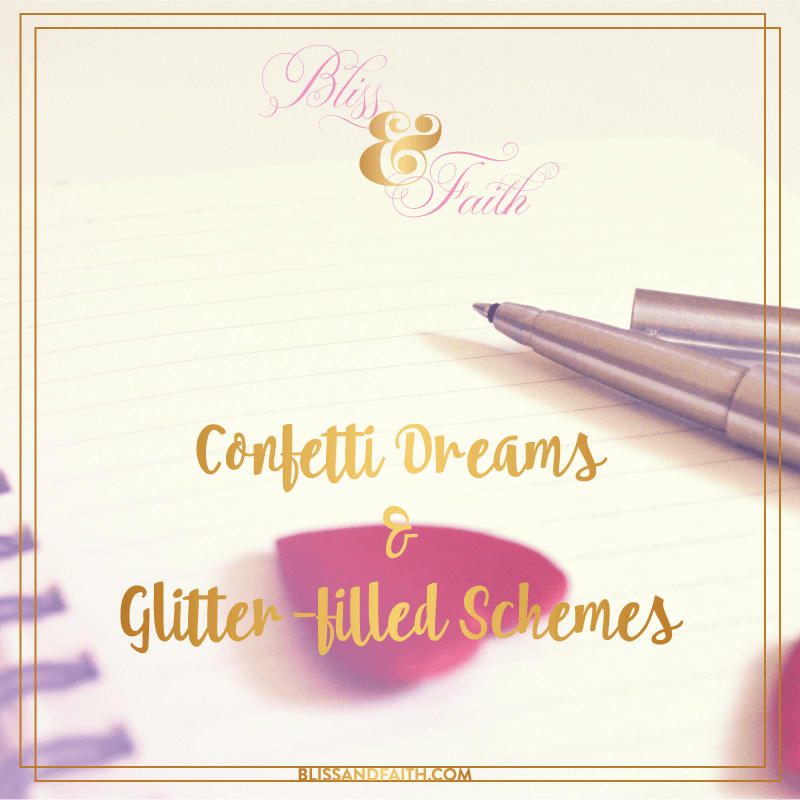 Confetti Dreams & Glitter-filled Scheme | BlissandFaith.com - Branding, Design, & Social Media Management