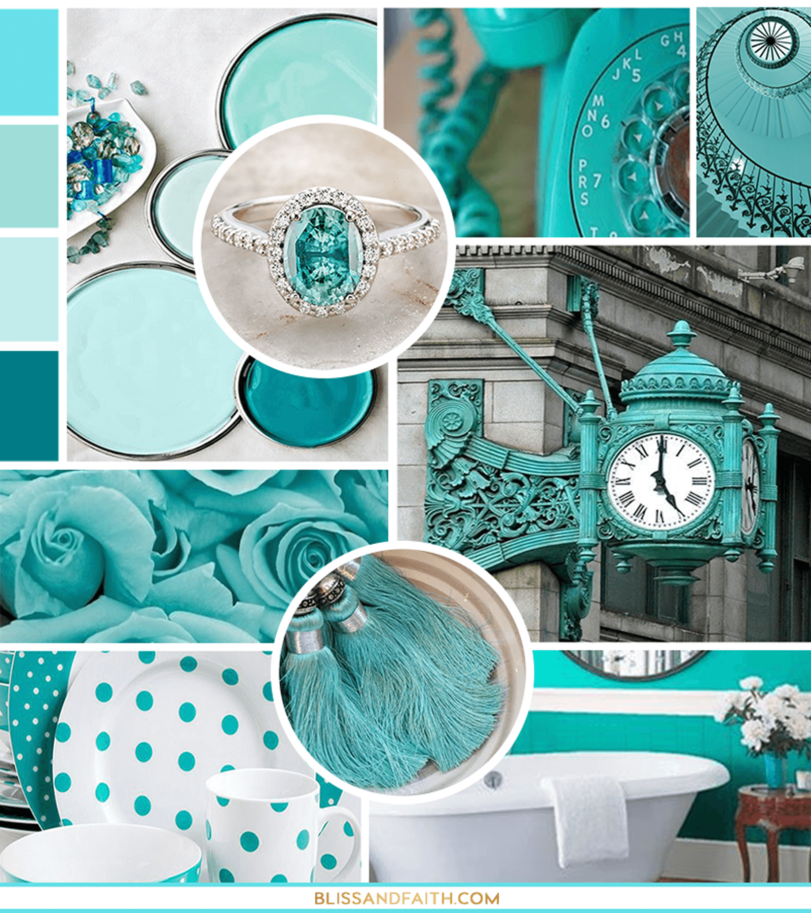 For the Love of Turquoise | Mood Board | BlissandFaith.com