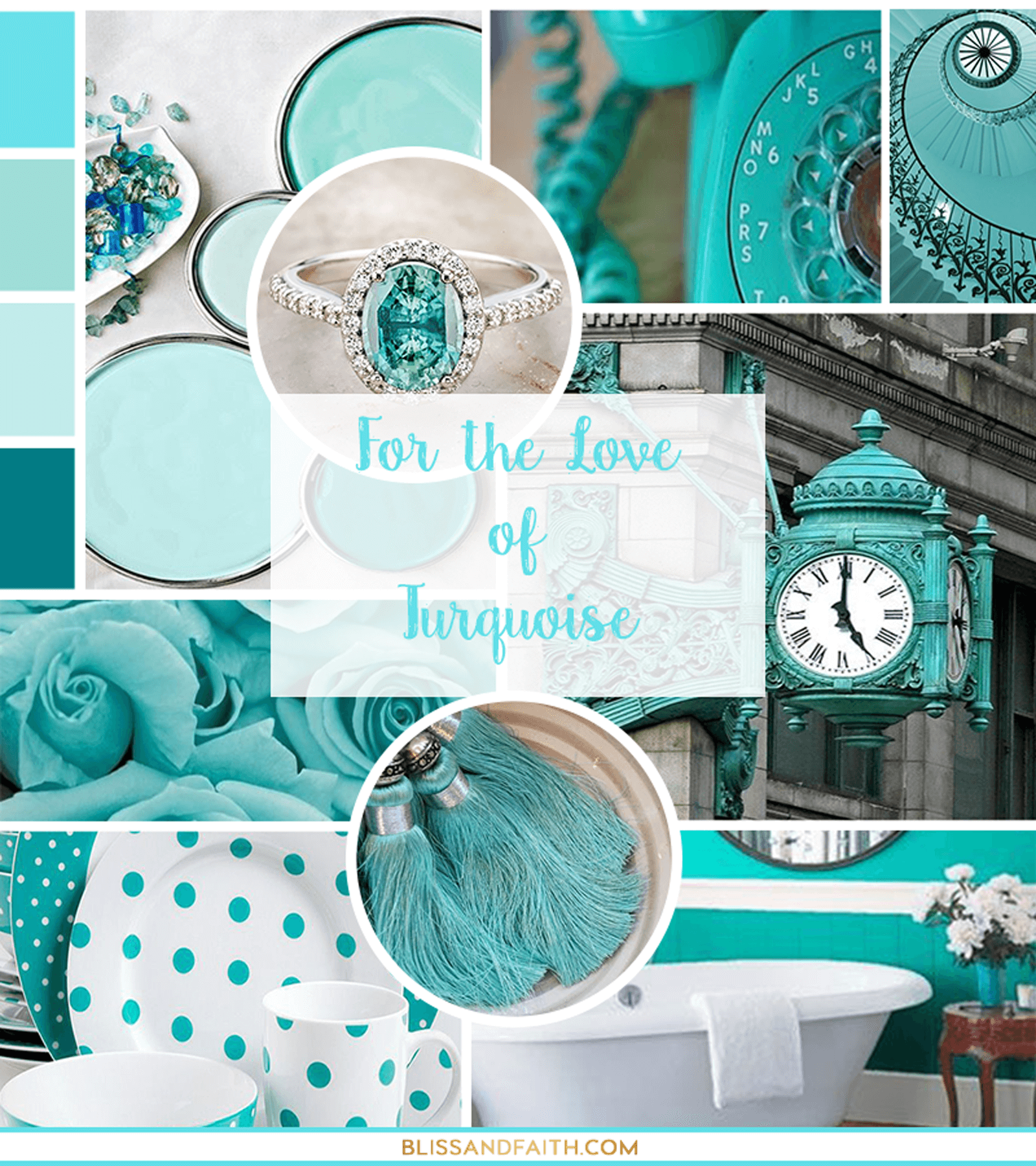 Friday For the Love Of | Turquoise Mood Board | BlissandFaith.com