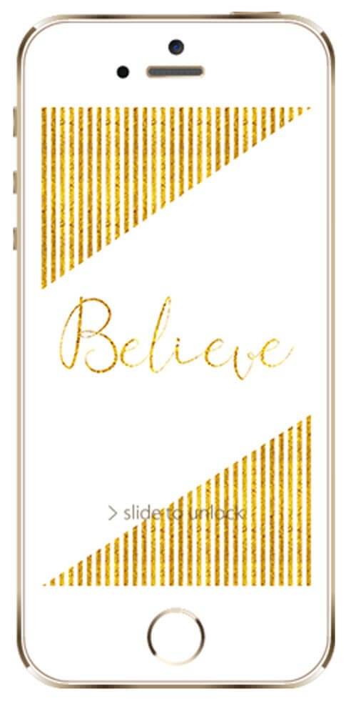 May Freebie | Gold Foil Believe Calendar Wallpaper | BlissandFaith.com