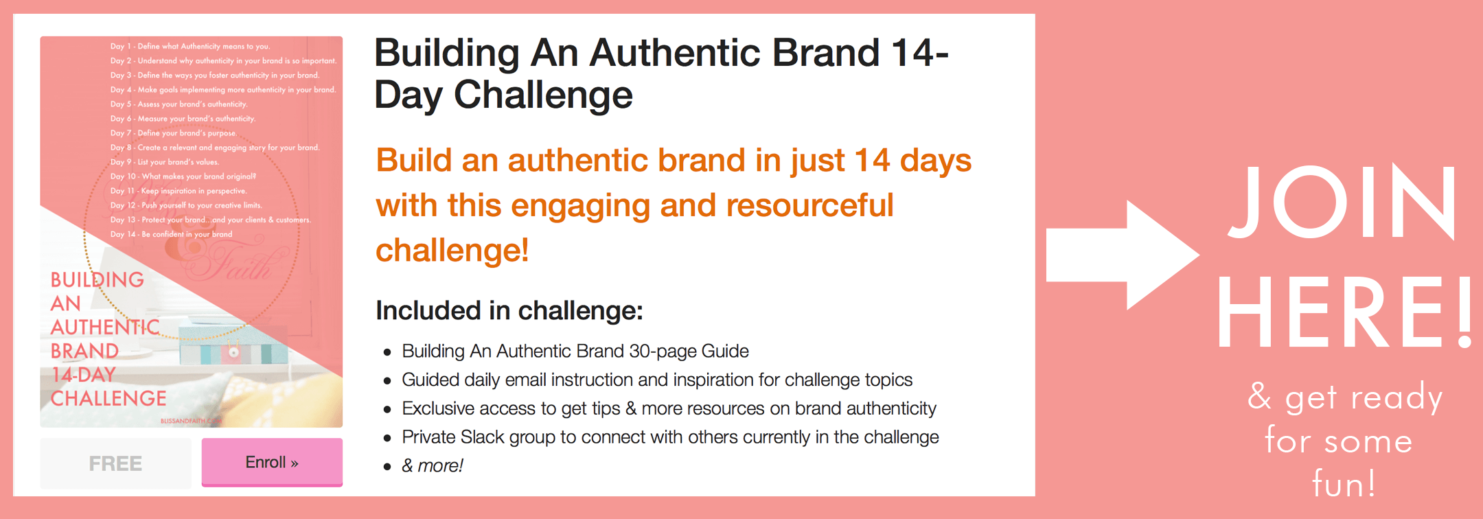 Building An Authentic Brand Challenge | BlissandFaith.com