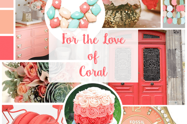 For the Love of Coral   Mood Board   BlissandFaith.com