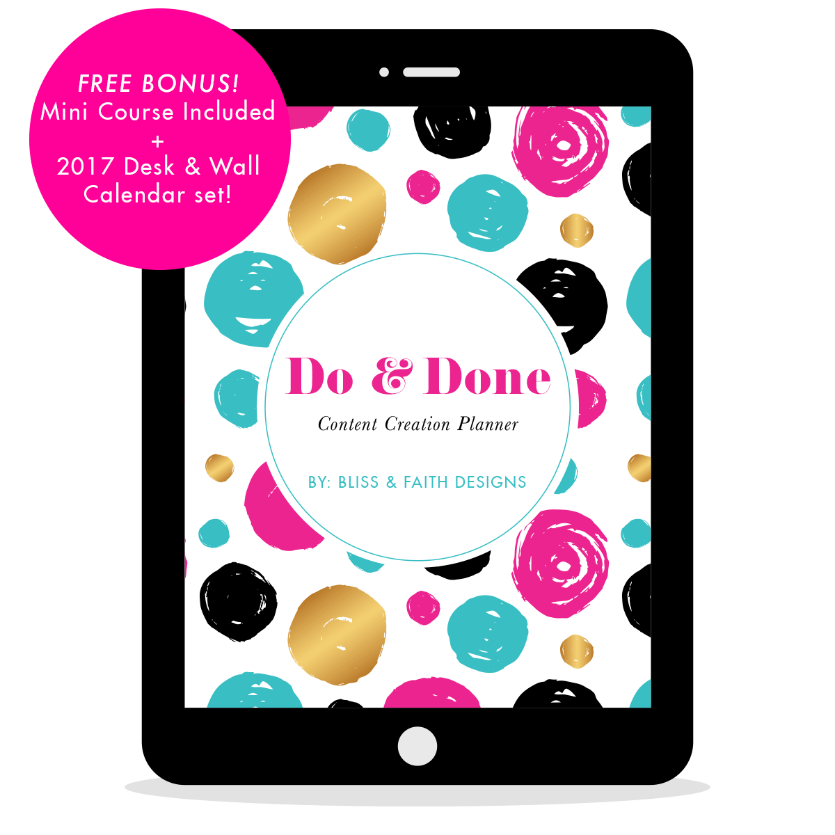 Do & Done Content Creation Planner | BlissandFaith.com