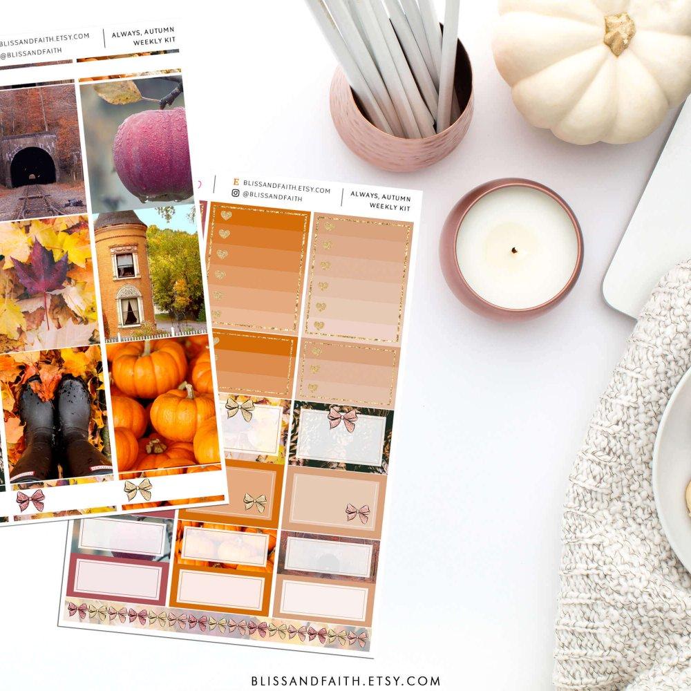Always, Autumn Weekly Sticker Kit | Shop.BlissandFaith.com