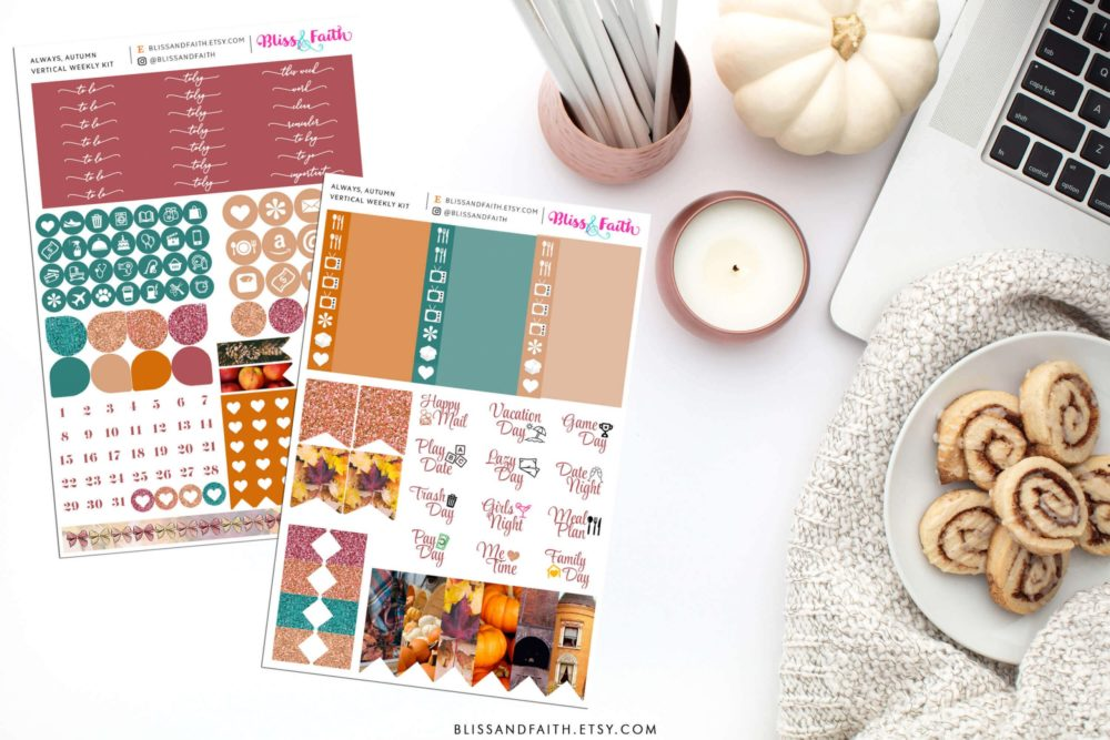 Always, Autumn Weekly Sticker Kit | Shop.BlissandFaith.com