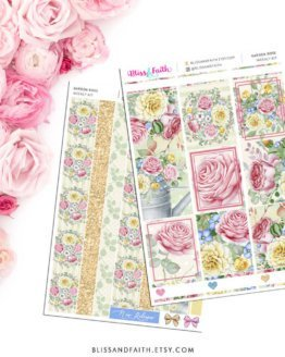 Garden Rose Weekly Sticker Kit | Shop.BlissandFaith.com