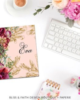 Elegant Botanicals Monogram Planner Cover | shop.blissandfaith.com