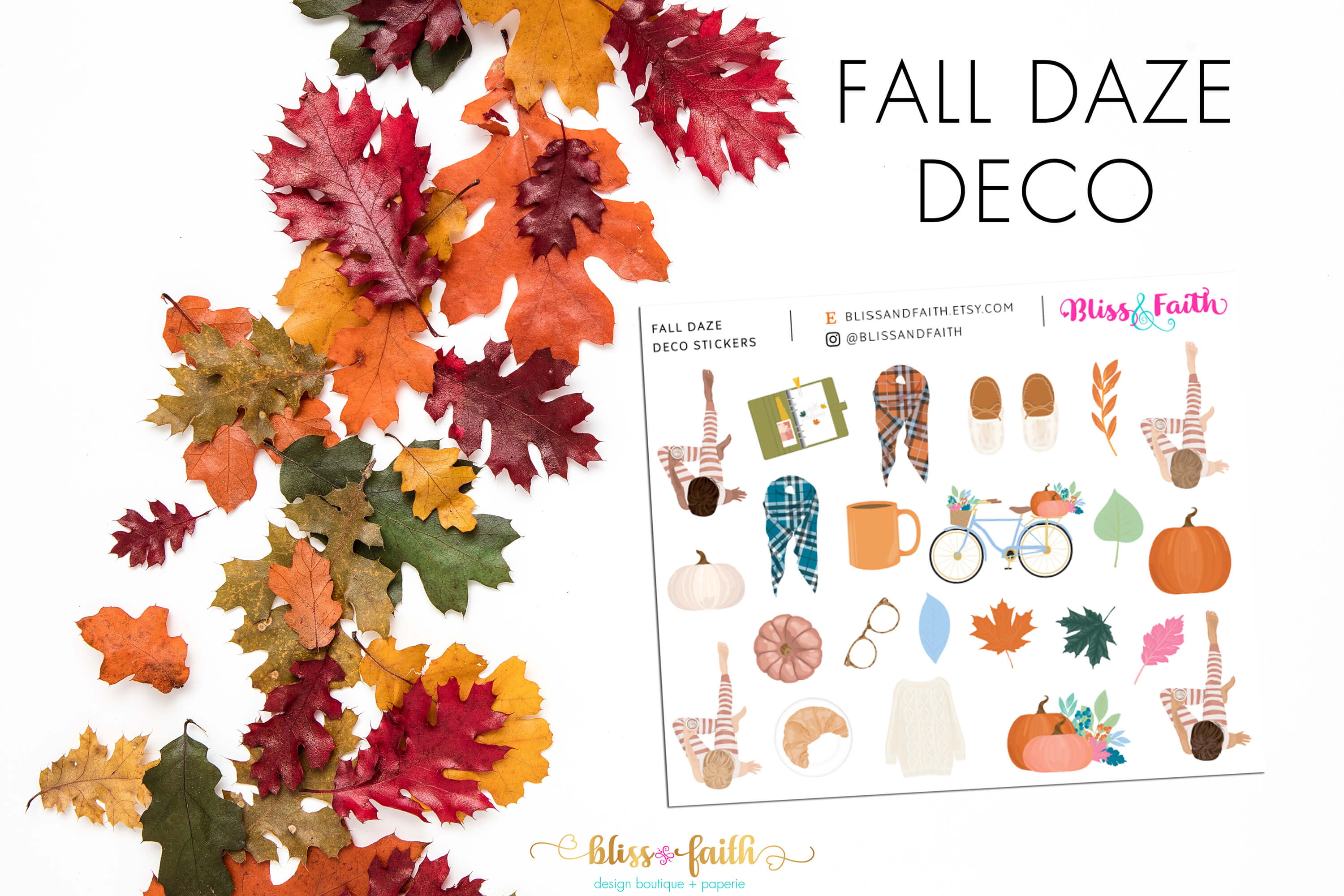Fall Daze Deco Stickers | shop.blissandfaith.com