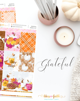 Grateful Weekly Sticker Kit | shop.blisandfaith.com
