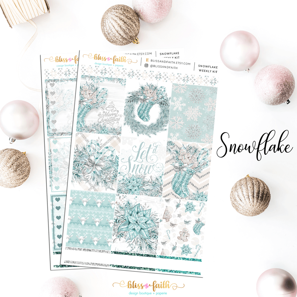 Snowflake Weekly Sticker Kit | shop.blisandfaith.com