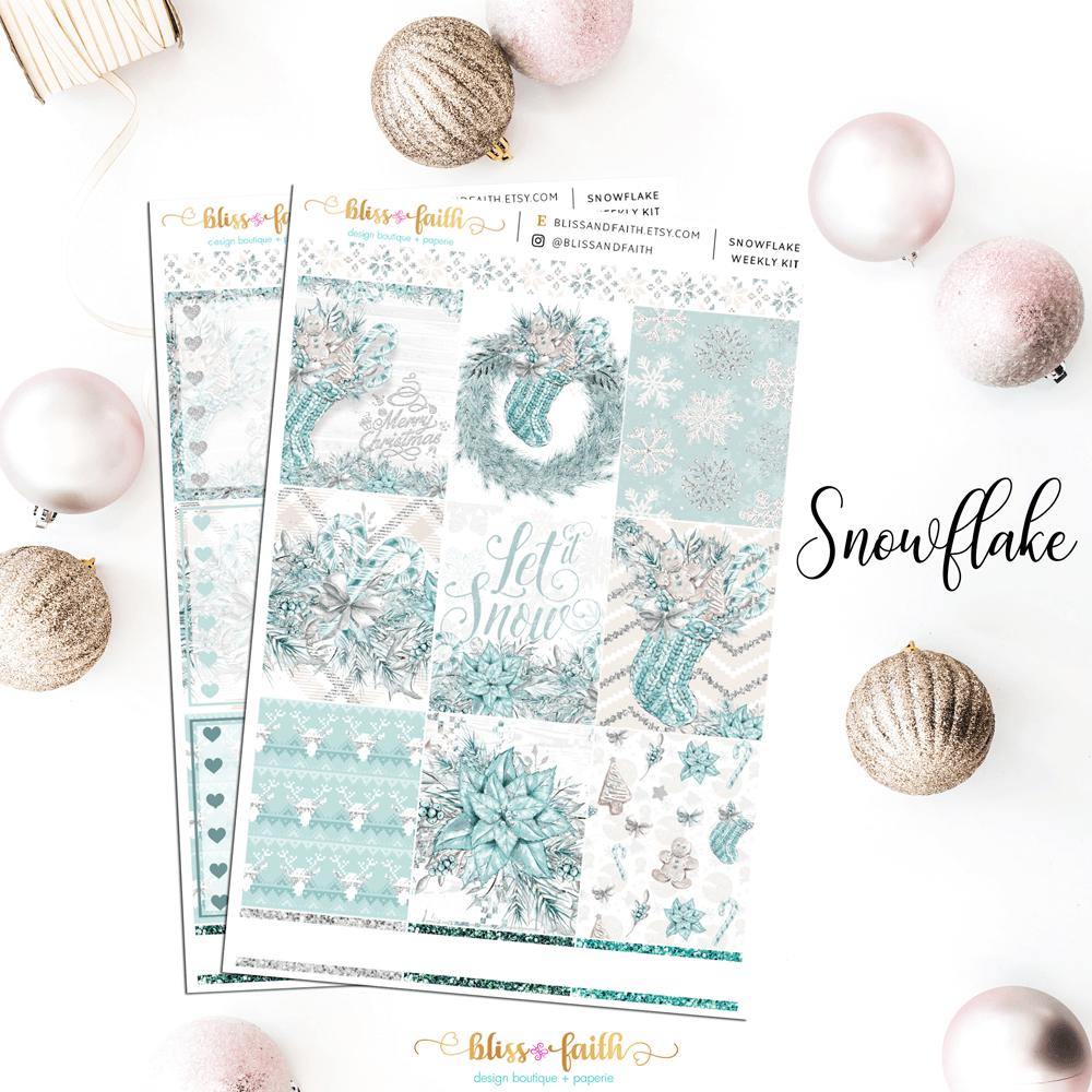 Snowflake Weekly Sticker Kit | shop.blisandfaith.com
