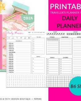 Printable B6 Daily Plan Traveler's Notebook Insert | shop.blissandfaith.com