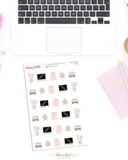 Girly Office Deco Stickers | shop.blissandfaith.com