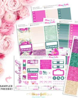 Rustic Blooms Weekly Sticker Kit | shop.blissandfaith.com