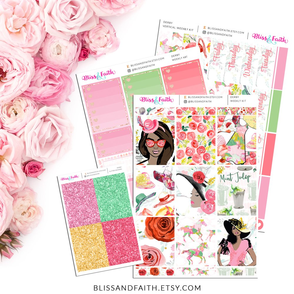 Derby Weekly Sticker Kit | BlissandFaith.com