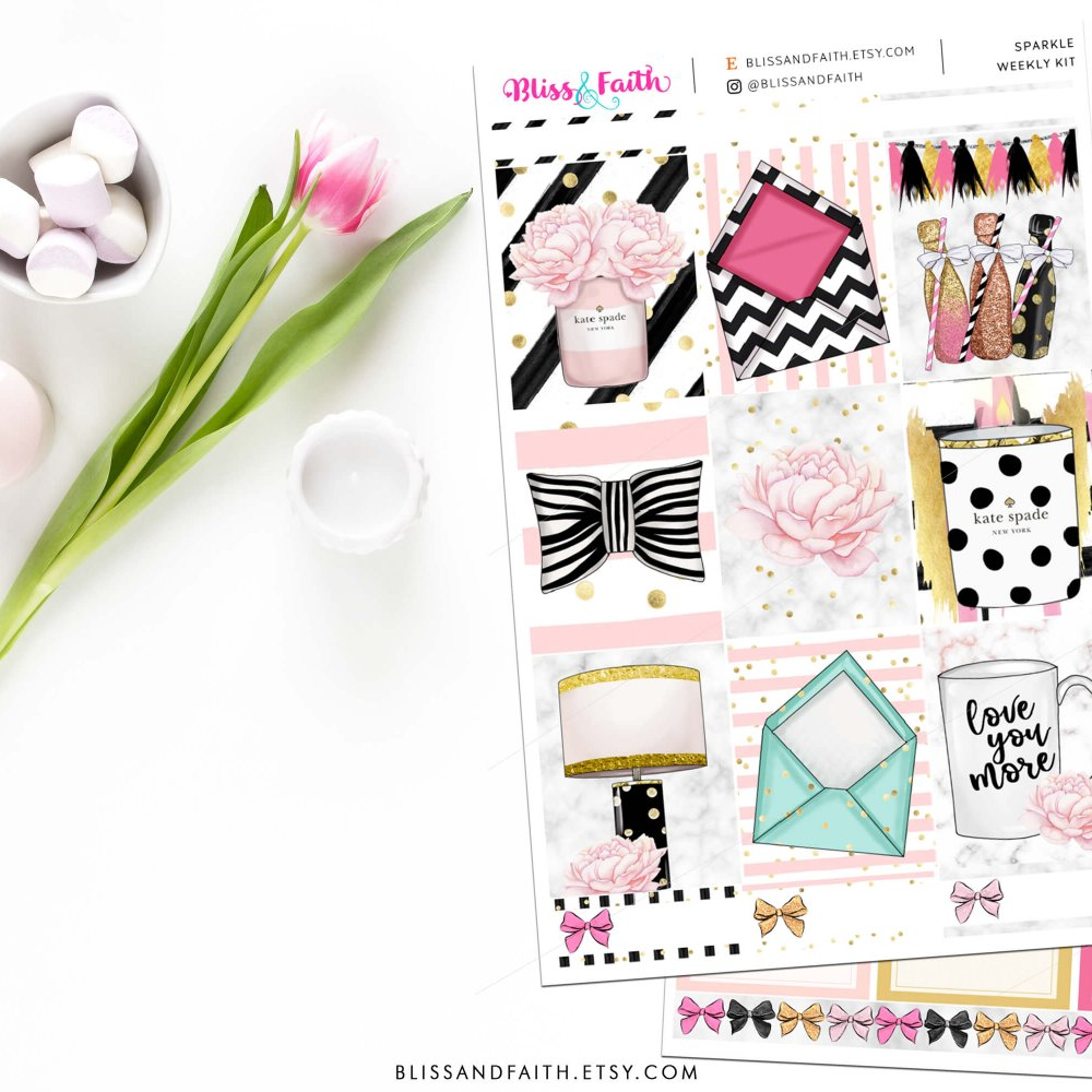 Sparkle Weekly Sticker Kit