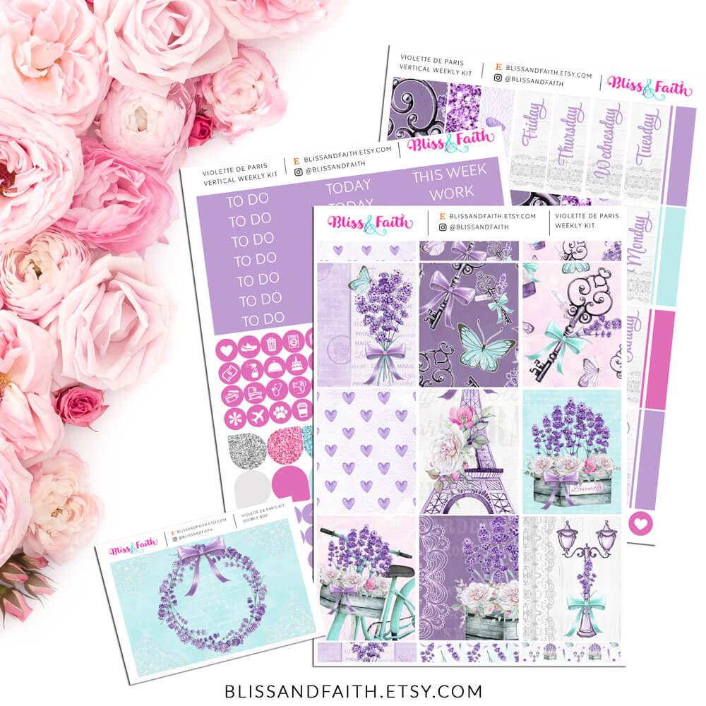 Violette de Paris Weekly Sticker Kit | shop.blissandfaith.com