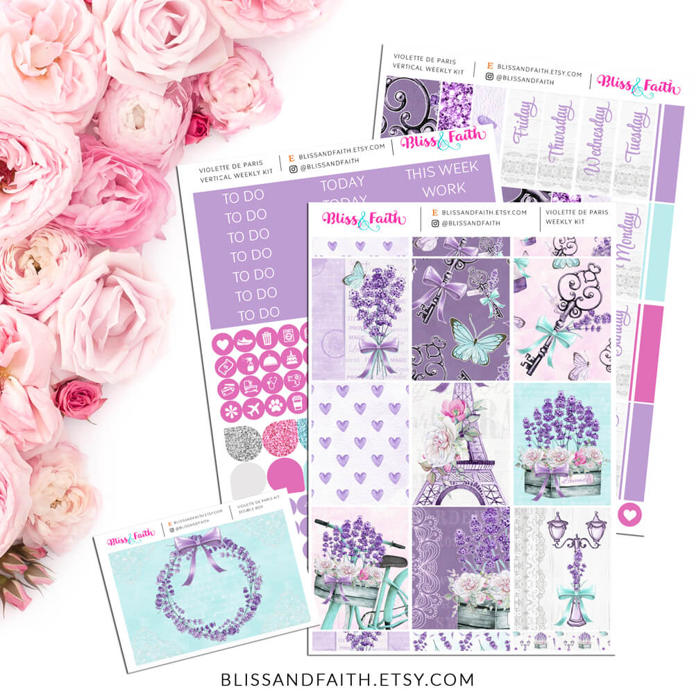 Violette de Paris Weekly Sticker Kit | shop.blissandfaith.com