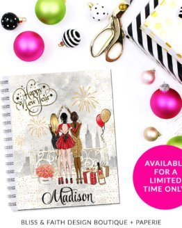 Happy New Year Monogram Planner Cover/Dashboard | shop.blissandfaith.com
