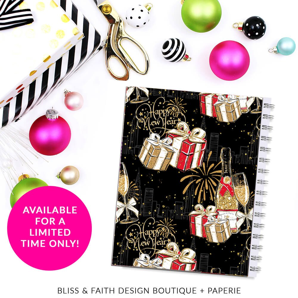 Happy New Year Monogram Planner Cover/Dashboard   shop.blissandfaith.com