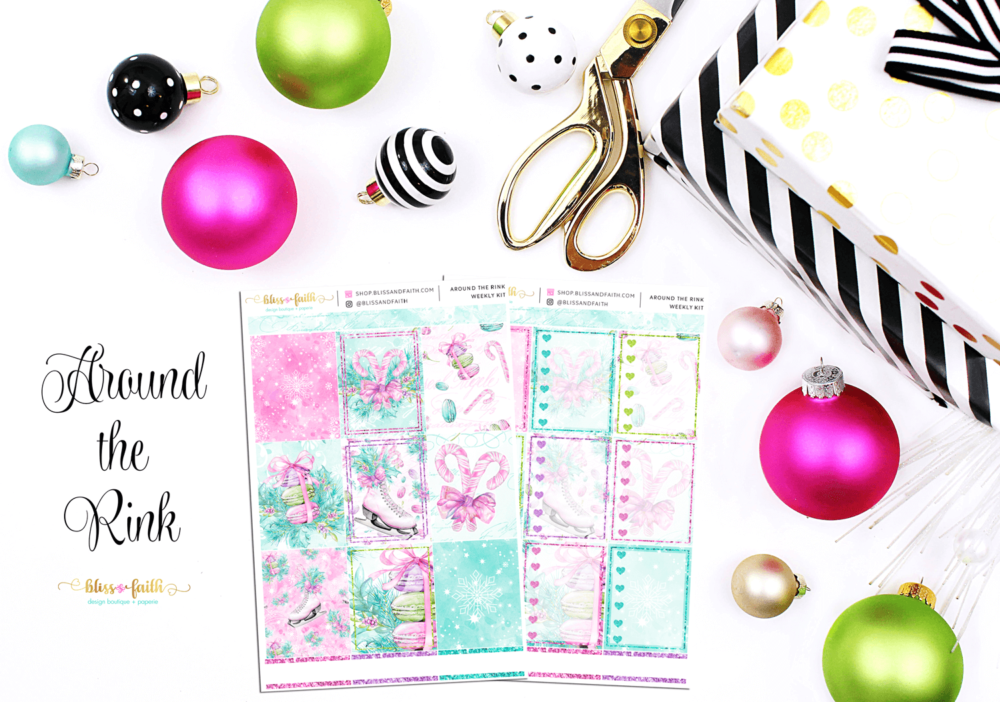 Around the Rink Weekly Sticker Kit | shop.blissandfaith.com