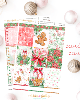 Candy Cane Weekly Sticker Kit