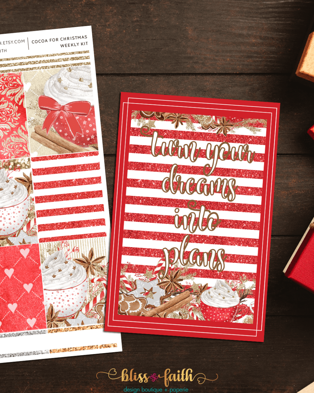 Cocoa for Christmas Weekly Sticker Kit | shop.blissandfaith.com
