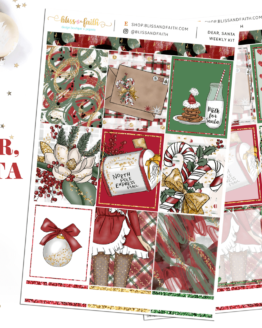 Dear Santa Weekly Sticker Kit | shop.blisandfaith.com