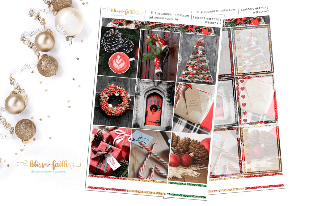 Seasons Greetings Weekly Sticker Kit | shop.blisandfaith.com