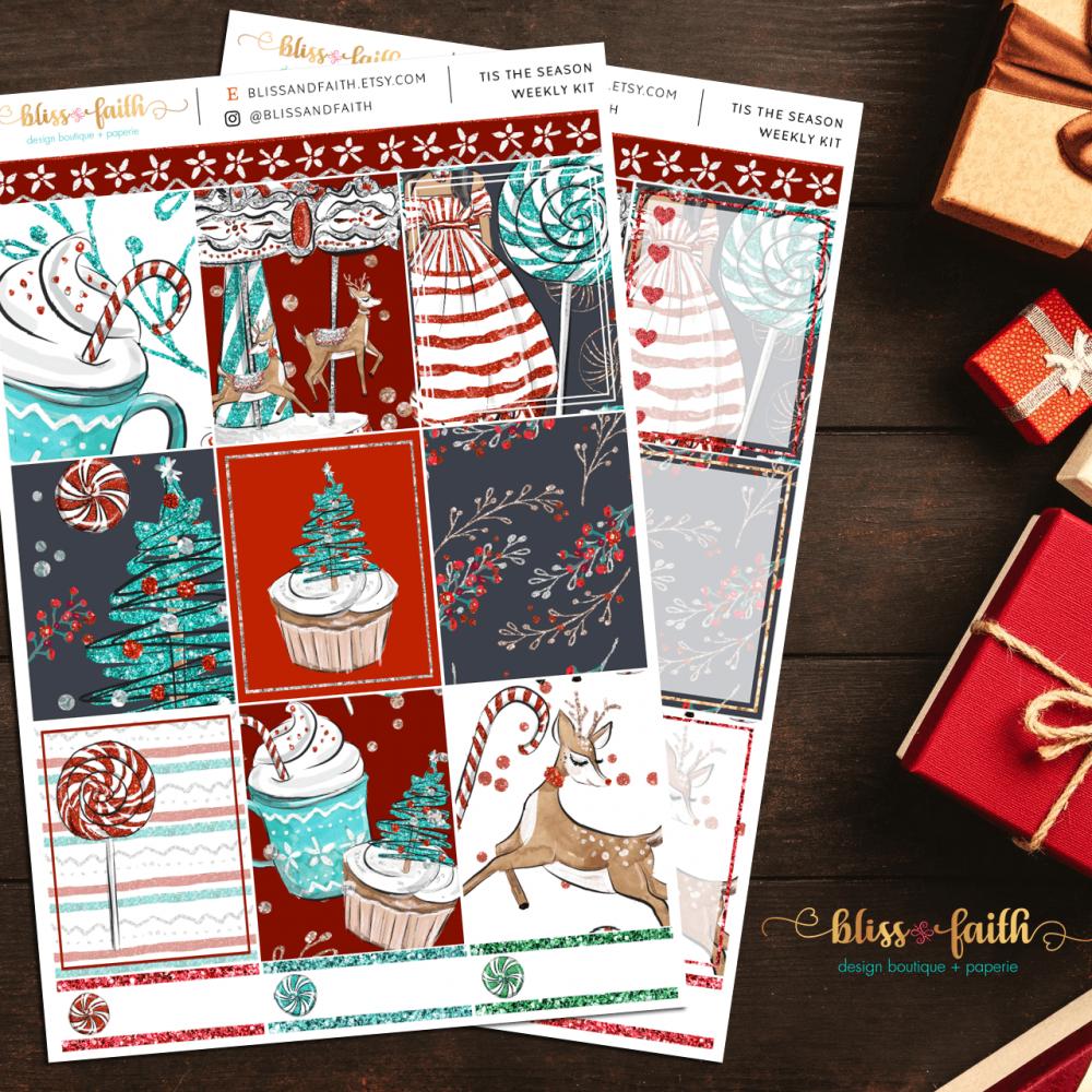Tis The Season Weekly Sticker Kit | shop.blisandfaith.com