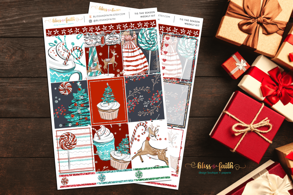 Tis The Season Weekly Sticker Kit | shop.blisandfaith.com