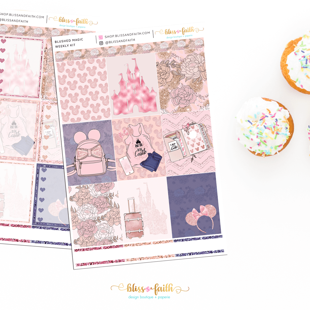 Blushed Magic Weekly Sticker Kit | shop.blissandfaith.com