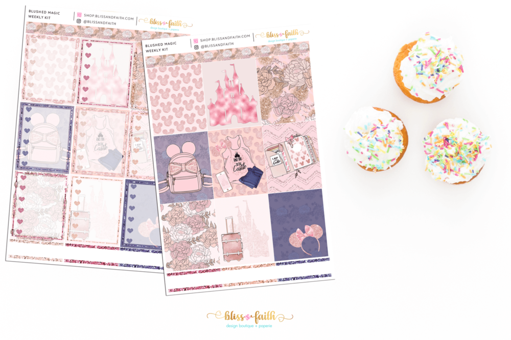 Blushed Magic Weekly Sticker Kit | blissandfaith.com