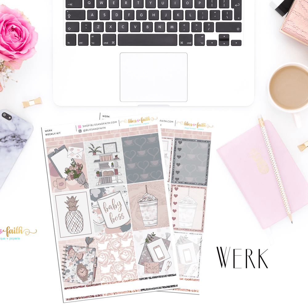 Werk Weekly Sticker Kit | shop.blissandfaith.com