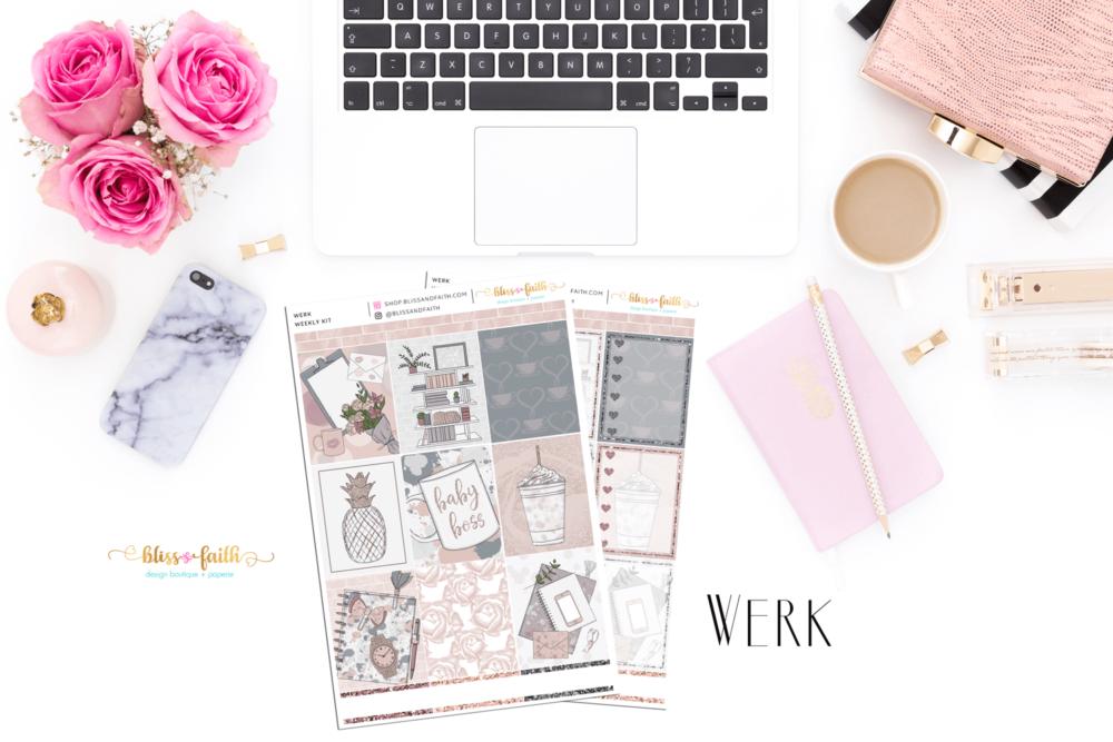 Werk Weekly Sticker Kit | shop.blissandfaith.com