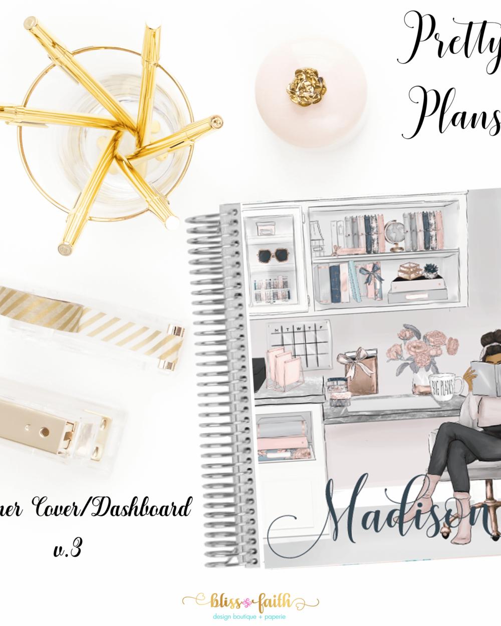 Pretty Plans Planner Cover/Dashboard | blissandfaith.com