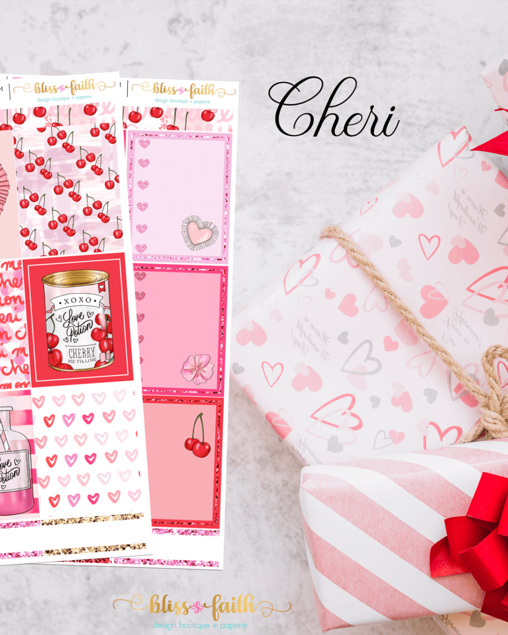 Cheri Weekly Sticker Kit | blissandfaith.com
