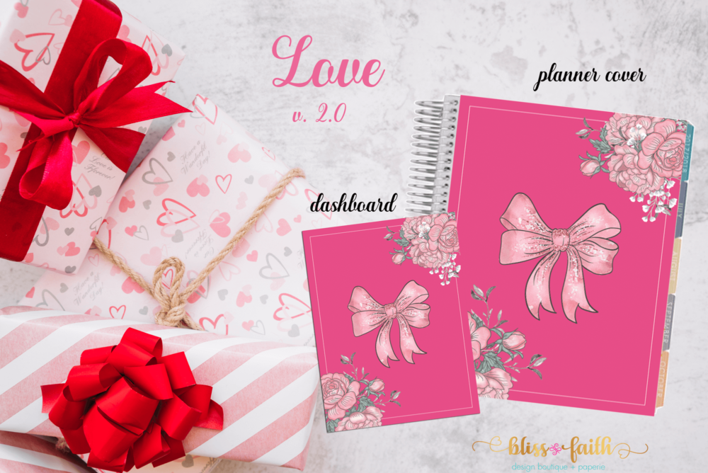 Love Planner Cover/Dashboard | blissandfaith.com