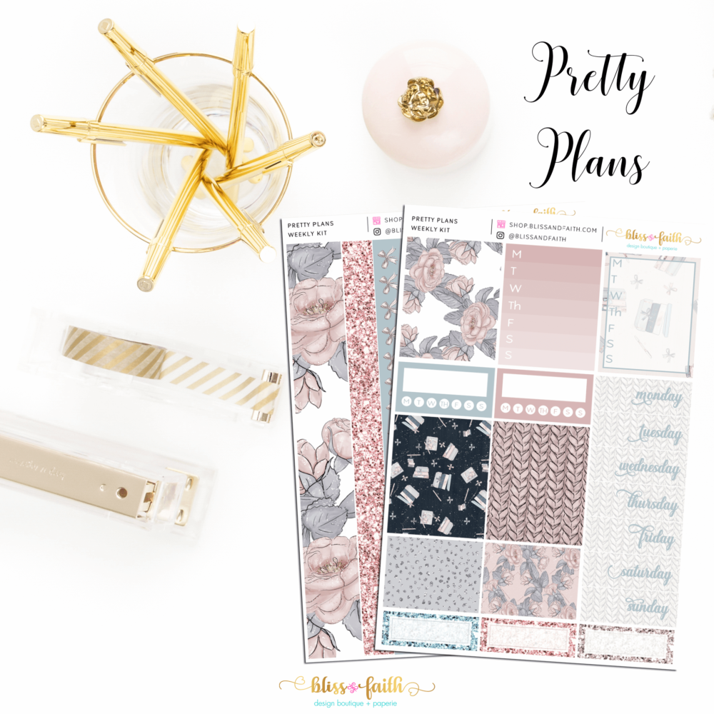 Pretty Plans Weekly Sticker Kit | blissandfaith.com