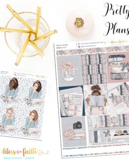 Pretty Plans Weekly Sticker Kit | blissandfaith.com