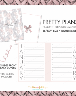 Pretty Plans Perpetual Calendar | BlissandFaith.com