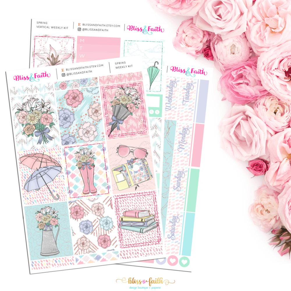 Spring Weekly Sticker Kit | BlissandFaith.com
