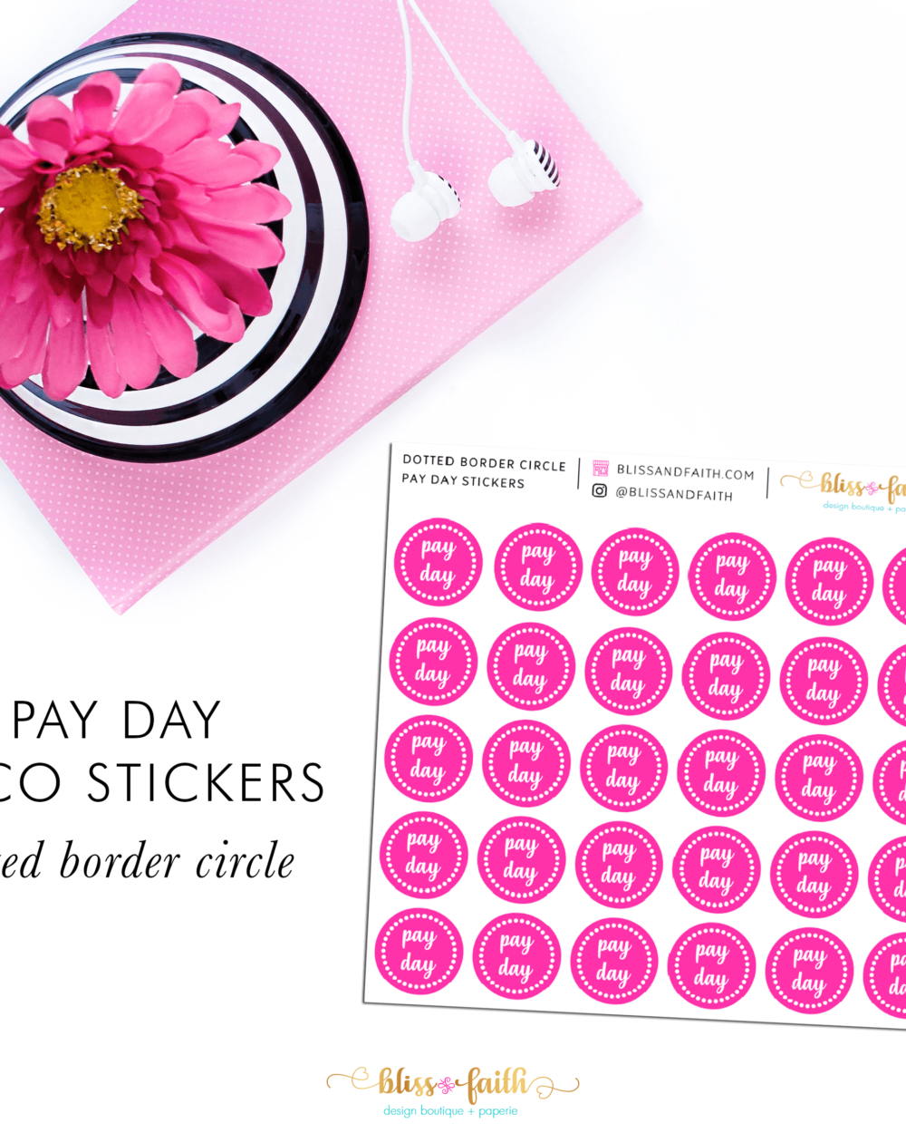 Pay Day Deco Sticker_DottedBorder | BlissandFaith.com