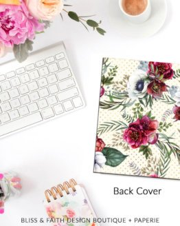 Floral Love Planner Cover Back | BlissandFaith.com