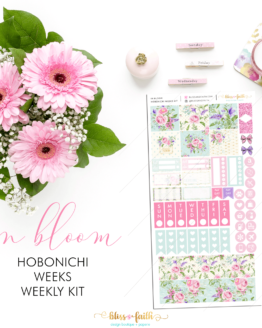 Hobonichi Weeks Weekly Kit_In Bloom | BlissandFaith.com