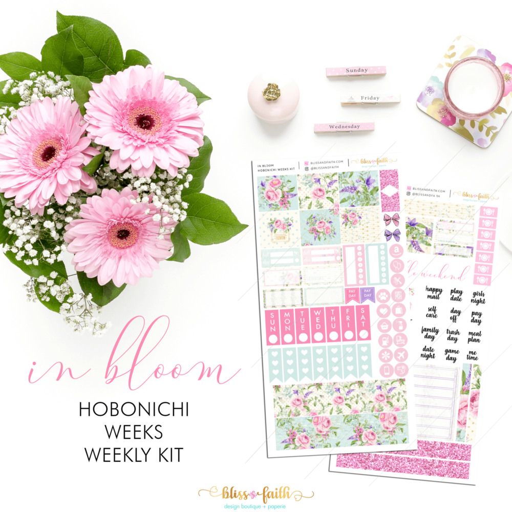 Hobonichi Weeks Weekly Kit_In Bloom | BlissandFaith.com